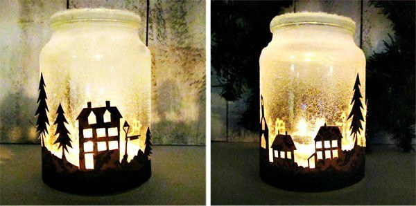 Diy Art Corner Make A Mason Jar Winter Wonderland Lantern